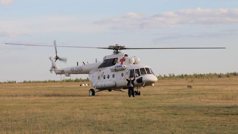 Вертолет саратовской санавиации доставил в Пензу младенца