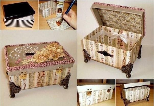 Как из коробки делать шкатулки