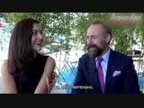 Интервью с Бергюзар Корель и Халитом Эргенчем на Mipcom 2016 в Каннах
