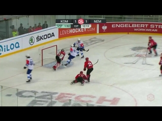 8 minutes played and fans have already seen 3 goals in Brno! Czech champions @HCKometa now lead @hcneman_grodno 21! - ChampionsG
