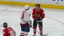 Alex Ovechkin and Patrick Kane Fight and Confront Ovechkin Knocks Off Kanes Helmet