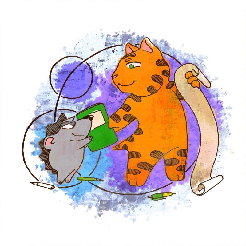 Кот и Ёжик поздравляют Вас с Новым Годом!