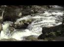 The waterfall Probiy in Yaremche Водопад Пробой в Яремче Side view
