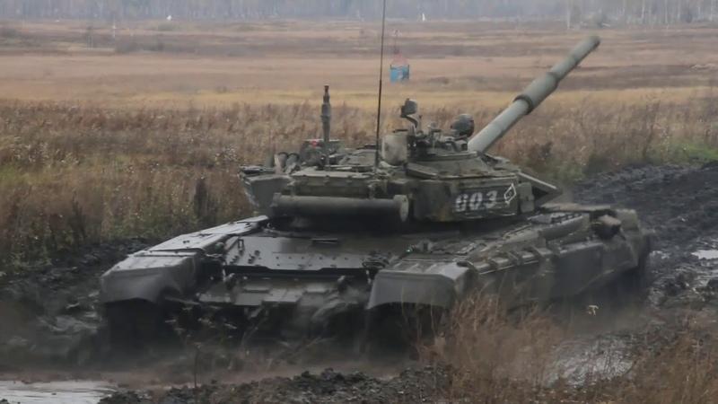 Контрольные занятия танкистов в Свердловской области