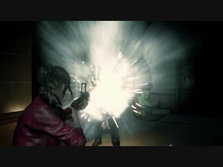 Resident Evil 2 remake_Gameplay_Claire Redfield _battle_Tyrant