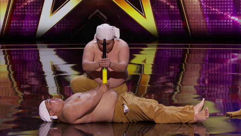 Yumbo Dump_ Shirtless Duo Creates Hilarious Sounds With Bellies - Americas Got Talent 2018