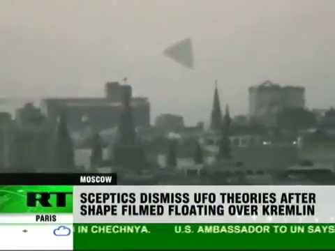 UFO Russia news reports pyramid flying over Moscow