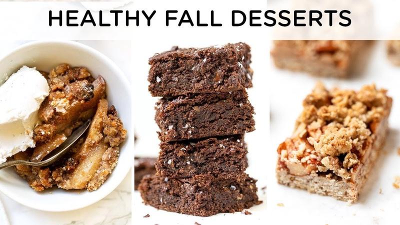 HEALTHY FALL DESSERT RECIPES ‣‣ quick easy vegan desserts