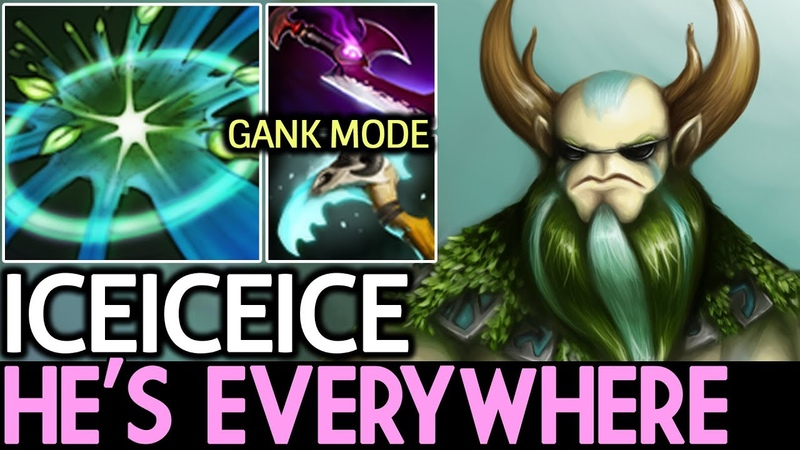 Iceiceice [Nature's Prophet] He's Everywhere! Gank Mode 7.18 Dota 2