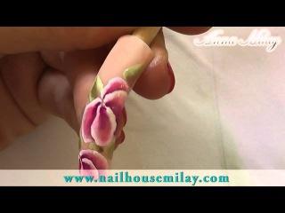 Уроки от чемпионки мира по дизайну ногтей. Техника одного мазка.