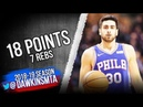 Furkan Korkmaz Full Highlights 2018.12.10 76ers vs Pistons - 18 Pts, 7 Rebs! | FreeDawkins