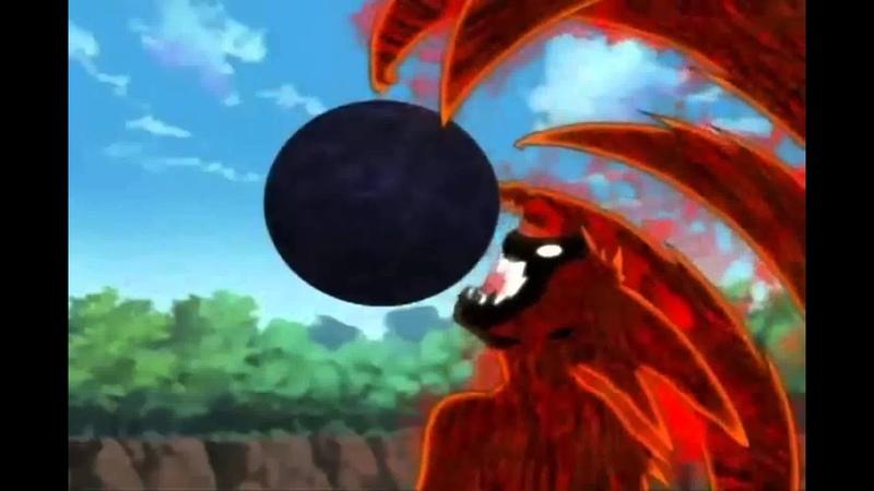 Naruto shippudem = 4 colas kyuubi bijuu-dama