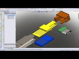 USB MicroUSB - 02. Solidworks