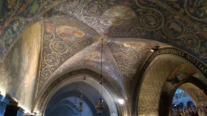 Израиль.Иерусалим.Храм Гроба Господня.Голгофа - место распятия Иисуса Христа.