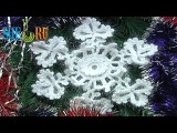 Вязание снежинки Урок 2 часть 1 из 2 Элемент вязанный крючком