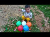 1 Hours Learn Colours Wet Balloons Compilation - TOP Balloon Finger Nursery Rhymes Collection