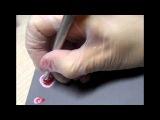 Урок №2 Китайская роспись на ногтях  НЕЖНАЯ РОЗА  Lesson 2,One stroke,Rose