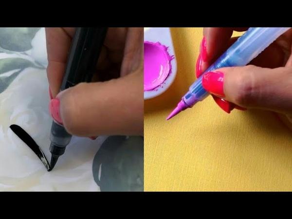 КАЛЛИГРАФИЯ ЛЕТТЕРИНГ РИСОВАНИЯ МАРКЕРОМ И АКВАРЕЛЬЮ calligraphy lettering drawing with a marker