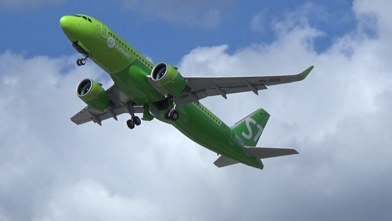 NEW A320neo for S7 AIRLINES - First Testflight RTO at Airbus Plant Hamburg