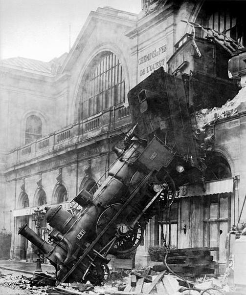 Невообразимая железнодорожная авария.