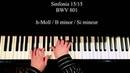 Sinfonia 15 BWV 801 piano Laurent Penalva Onteniente
