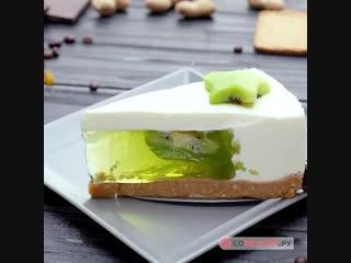 Желейный торт с киви 🥝