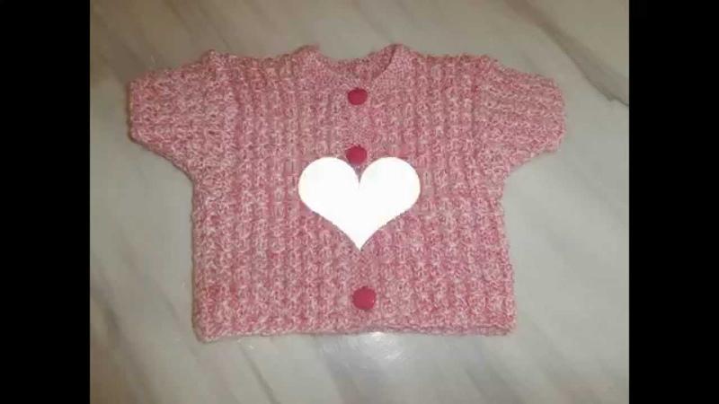 Tuto tricot layette : gilet manche courte expliqué pendant le diaporama