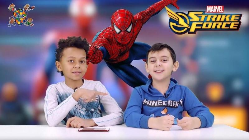 Мир мальчишек • ЯРИК и ДАНИ играют в приложение MARVEL Strike Force