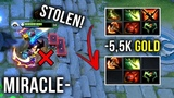 Miracle- Best AM Player! 5.5k Gold Stolen Items WTF 322 Moment vs LVL 25 Tinker Spammer - Dota 2