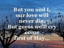 FIRST OF MAY Lyrics - THE BEE GEES