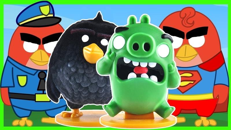 Энгри Бёрдс на русском - Киндер сюрприз - Angry Birds - Kinder Surprise - Злые Птички - Мультик