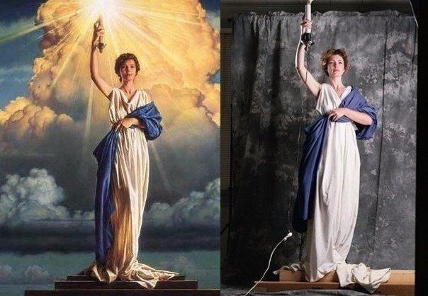 Леди c факелом на логотипе Columbia Pictures была срисована с простой американск...
