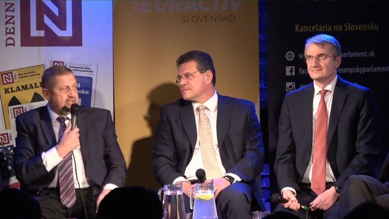 Európska debata prezidentských kandidátov: Šefčovič, Mistrík a Harabin
