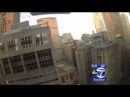 Small Drone crash lands in Manhattan illegal Drone Video tapes, Flies over New York City
