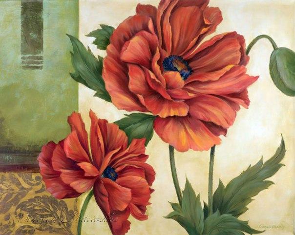 Картинки для декупажа. Винтажные цветы.