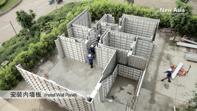New Asia Aluminium Formwork (Installation part)