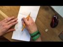 Процесс рисования портрета карандашом