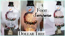 Dollar Tree DIY Christmas Snowman Topiary -Lighted Snowman
