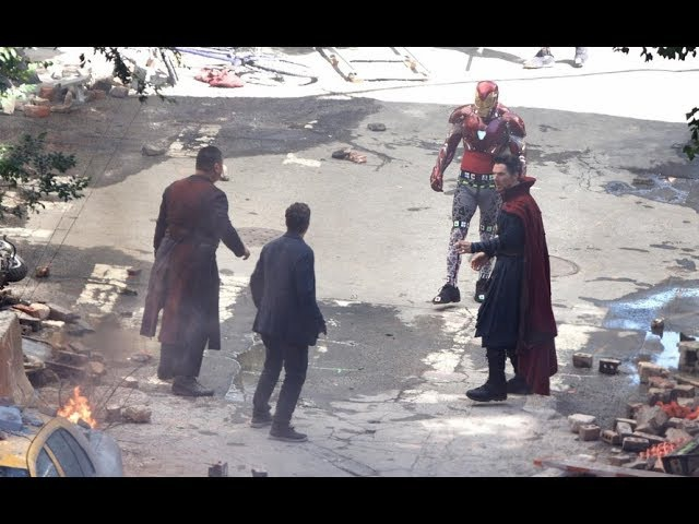 Avengers: Infinity War Set Footage- Doctor Strange vs The Black Order/New Iron Man Armour
