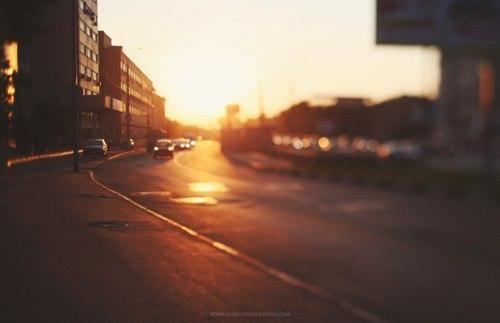 природа ночь восход дорога