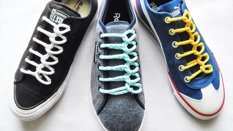 〔靴紐の結び方〕スプーンが並んでいるみたいな靴ひもの通し方 丸ひも編 how to tie shoelaces 〔生活に役立つ!〕