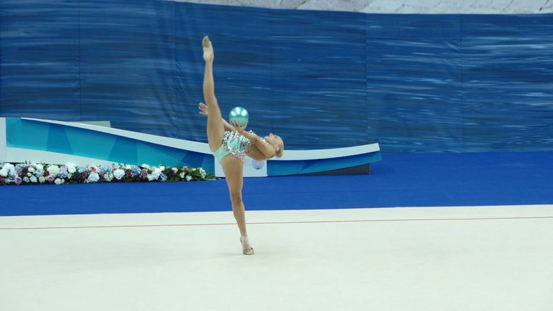 World Cup Kazan 2016 (Individual all-around) Yana Kudryavtseva - Ball » Freewka.com - Смотреть онлайн в хорощем качестве