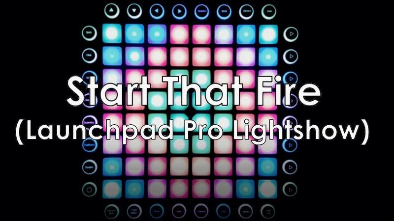 Launchpad Pro remake EWN Whogaux - Start That Fire (Launchpad Lightshow by DJCoMManDBl0cK)