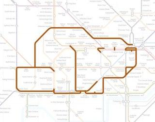 Английский художник Поль Миддлвик (Paul Middlewick) высматривает в схеме лондонского метро различных животных.