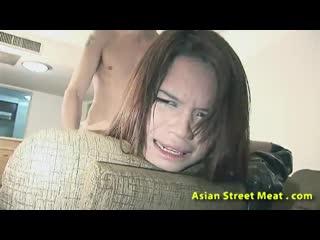 Снял на улице тайку за деньги и отъимел во все щели в сваем номере гостинници ( порно секс юная молодая униформа в попу)