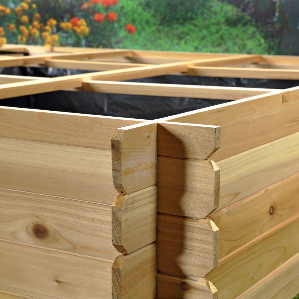 Jardinera de madera tabique separador de flores y - Separador de madera ...