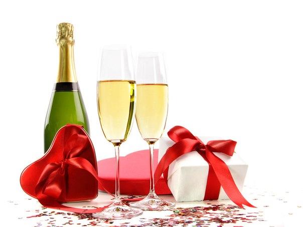 Картинки по запросу шампанское с подарками
