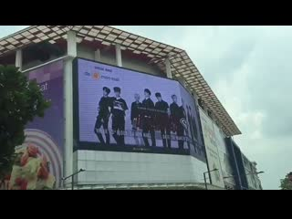 Did you spot @dia_crunch at da men mall billboard - - come and see them performing live at da men mall, today at 2.00pm. - - dcr