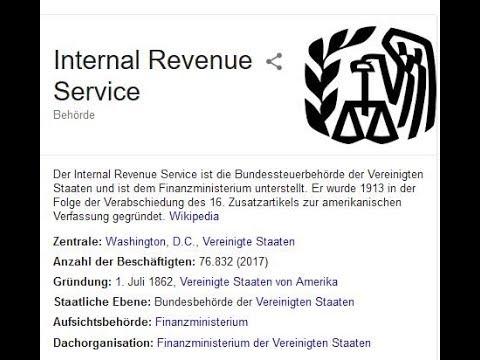 Was bedeutet der IRS International Revenue Service für die BRD Personenverwaltung ??