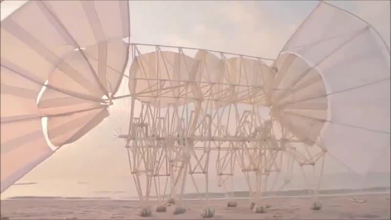 Движимые ветром пляжные скульптуры художника и кинетического скульптора Тео Янсена TheoJansen из Нидерландов Просто завораживаю